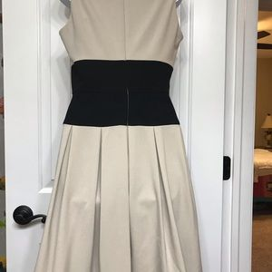 Ellen Tracy Dress Size 6 Tan and Black